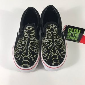 Vans Shoes - Vans Classic Slip-On Skeleton Glow Black Sneakers